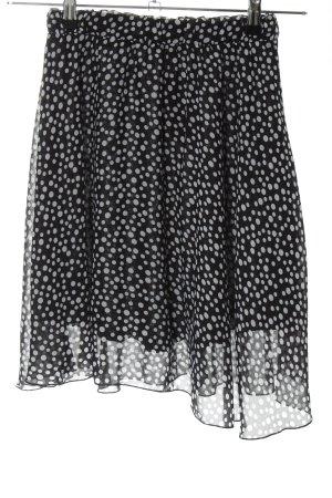 Anna Field Spódnica mini czarny-biały Wzór w kropki W stylu casual
