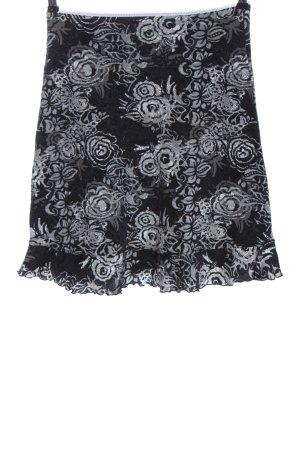 Anna Field Mini rok zwart-lichtgrijs volledige print casual uitstraling
