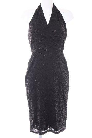 Anna Field Vestido de cuello Halter negro estilo fiesta
