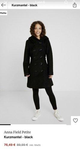 Anna Field Manteau à capuche noir