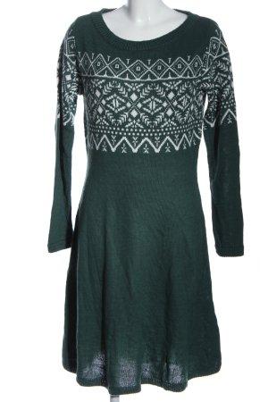 Anna Field Pulloverkleid grün-weiß grafisches Muster Casual-Look