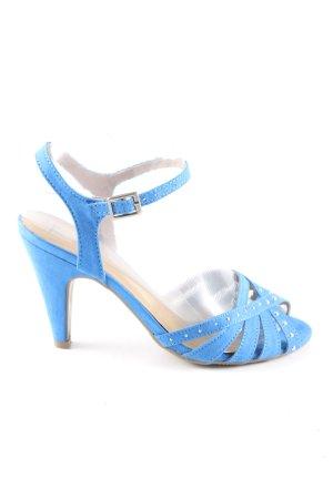 Anna Field Sandalen met bandjes en hoge hakken blauw casual uitstraling