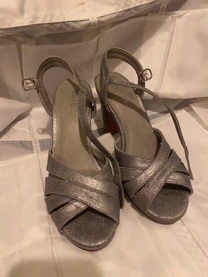 Anna Field Sandalias de tacón alto gris claro