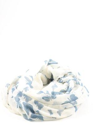Anna Field Bufanda tubo blanco-azul estampado temático look casual