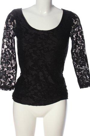 Anna Field Kanten blouse zwart elegant