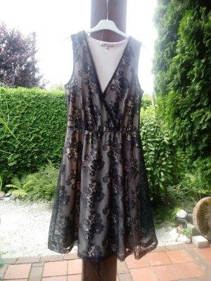 Anna Field Spitzenkleid 36 schwarz nude Sommerkleid NEU