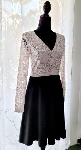Anna Field Kanten jurk wit-zwart Polyester