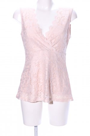 Anna Field Lace Top pink flower pattern casual look
