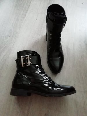 Anna Field Stiefelette Lack Patent Schnallenboots Boots Ankles Booties