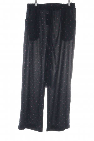 Anna Field Jersey Pants dark blue-red spot pattern casual look
