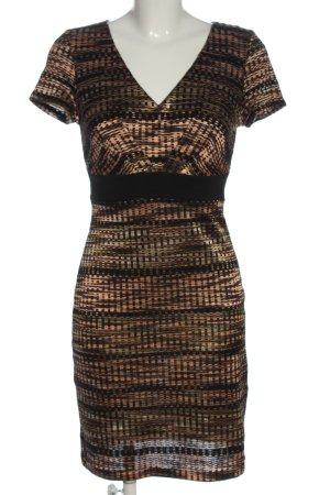 Anna Field Gebreide jurk zwart-bruin volledige print casual uitstraling