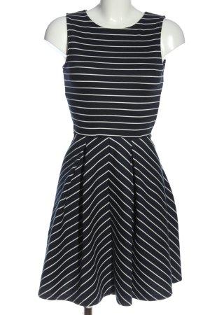 Anna Field Sweatkleid schwarz-weiß Streifenmuster Casual-Look
