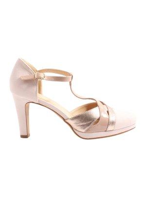 Anna Field Zapatos de tacón con barra en T rosa-color oro elegante