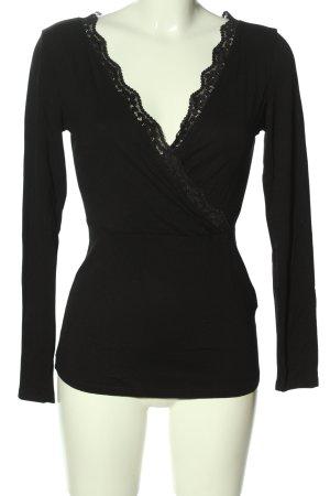 Anna Field T-shirt col en V noir style décontracté