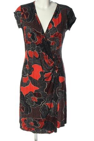 Anna Field Wikkeljurk zwart-rood casual uitstraling