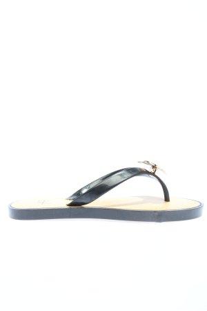 Anna Field Sandalo toe-post nero stile casual