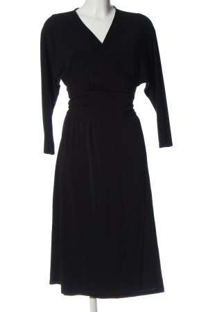 Anna Fuchs Hamburg Robe portefeuille noir style décontracté