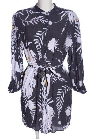 Anna Glover × H&M Koszulowa sukienka czarny-biały Na całej powierzchni