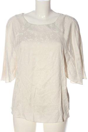 Anna Glover × H&M Bluzka z krótkim rękawem w kolorze białej wełny Elegancki