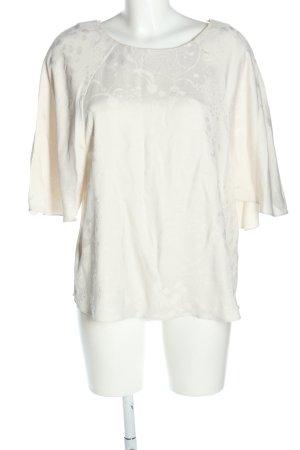 Anna Glover × H&M Blouse met korte mouwen wolwit Patroon-mengeling