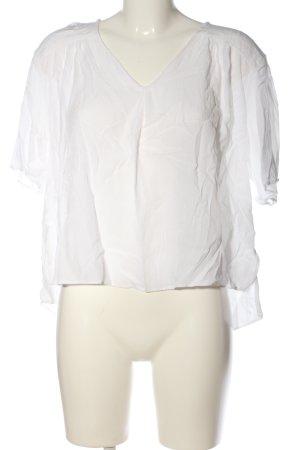 Anna Glover × H&M Blouse met korte mouwen wit zakelijke stijl