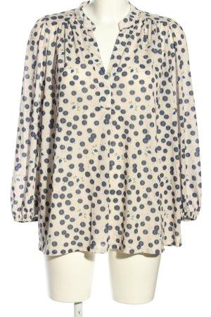 Anna Glover × H&M Slip-over blouse wolwit-blauw volledige print