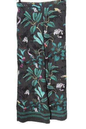Anna Glover × H&M Spodnie materiałowe Wzór w kwiaty W stylu casual