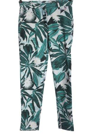 Anna Glover × H&M Spodnie materiałowe biały-zielony Na całej powierzchni