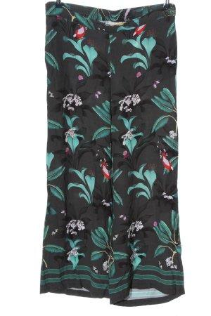 Anna Glover × H&M Stoffen broek lichtgrijs-turkoois volledige print feest stijl