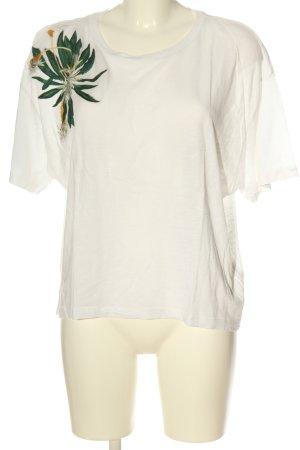 Anna Glover × H&M T-shirt blanc-vert style décontracté