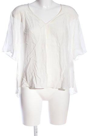 Anna Glover × H&M Transparentna bluzka biały W stylu casual