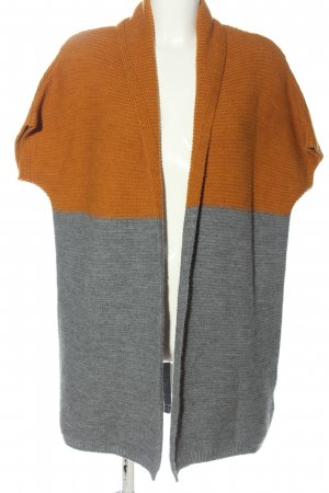 Anna Justper Cardigan light grey-light orange flecked casual look