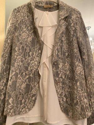 Anna Justper Knitted Blazer silver-colored-white