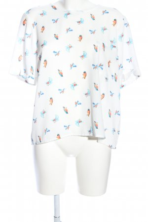 Anna Justper Short Sleeved Blouse allover print casual look