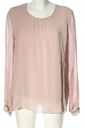 Anna Justper Long Sleeve Blouse pink business style