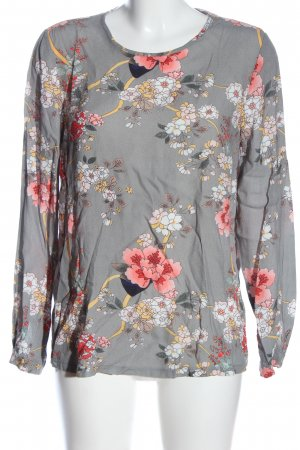 Anna Justper Long Sleeve Blouse light grey-pink allover print casual look