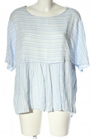 Anna Justper Oversized Blouse blue-white striped pattern casual look