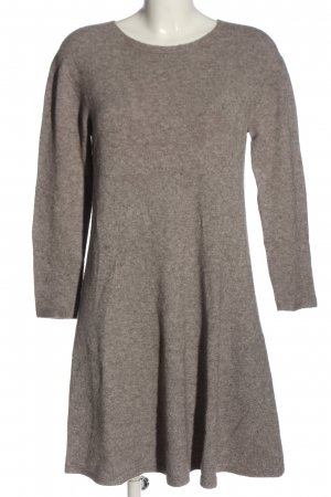 Anna Justper Sweater Dress light grey cable stitch casual look