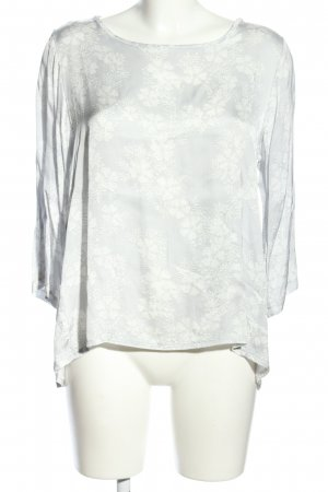 Anna Justper Slip-over Blouse light grey-white allover print casual look