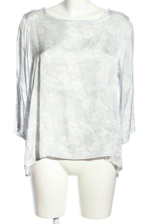 Anna Justper Slip-over Blouse light grey-white allover print casual look