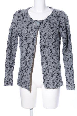 Anna Justper Knitted Cardigan light grey-black flecked casual look