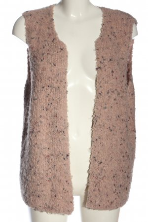 Anna Justper Knitted Vest pink flecked casual look