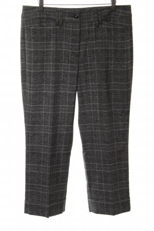 Anna Montana Jersey Pants light grey-black check pattern business style