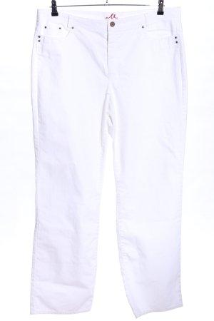 Anna Montana Straight-Leg Jeans weiß Casual-Look
