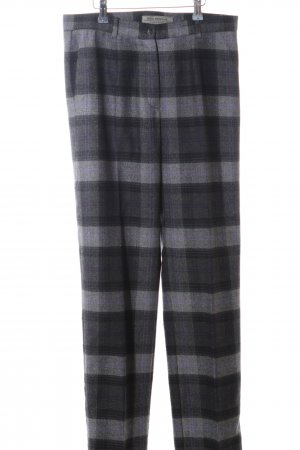 Anna Montana Woolen Trousers light grey-lilac check pattern casual look