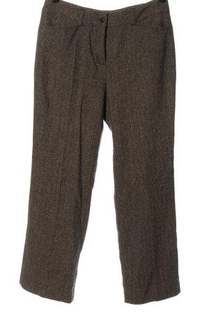 Anna Montana Pantalón de lana marrón estilo «business»