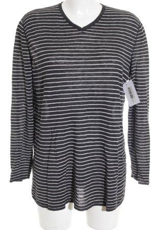 Anna Purna Oversized Pullover dunkelblau-weiß Casual-Look