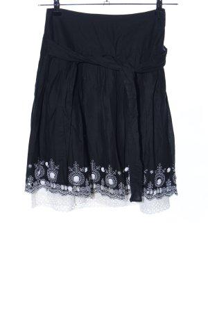 Anna Rita N Flared Skirt black-white graphic pattern casual look