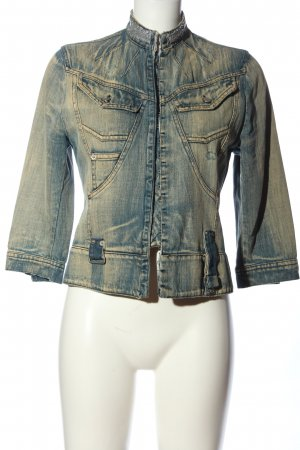 Anna Rita N Veste en jean bleu style décontracté