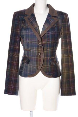 Anna Rita N Jersey blazer geruite print casual uitstraling